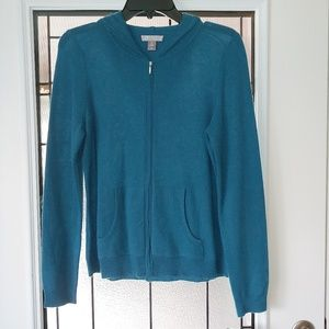Charter Club 100% 2Ply Cashmere hooded Sweater